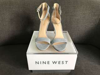 Nine West Mana shoes blue suede