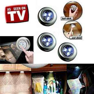 Stick touch lamp lampu led tempel emergency