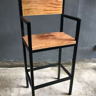 Square Bar Stools: Stallion (Director's Chair)