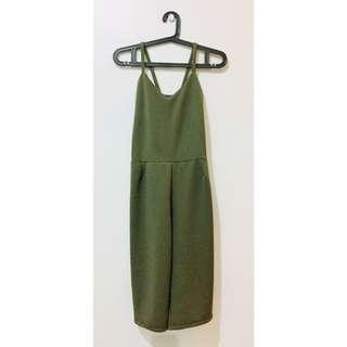 🌸SALE🌸 Military Green Romper Pants