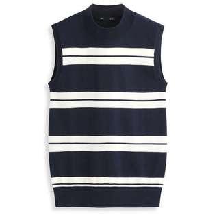 $ 259 || Lativ 針織 棉感 坑條 條紋 無袖 背心