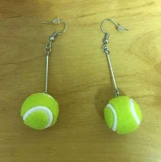 🚚 網球耳環九成新