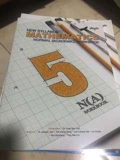Maths Sec 5NA textbook and workbook