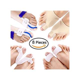 PAAZA Bunion Corrector & Bunion Relief Kit, 8 pieces-4 pairs
