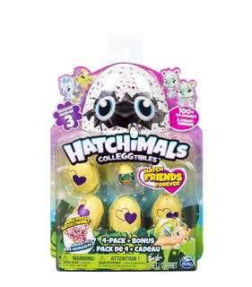 Hatchimals CollEGGtibles Season 3 - 4-Pack + Bonus (Styles & Colors May Vary) by Spin Master