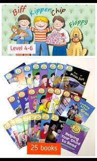 Queen's 媽媽英國🇬🇧直送  ❤️Oxford reading tree -read with Biff ,Chip and kipper level 4-6 故事書系列(25本) 每個level 有8⃣️本+1⃣️本 Helping your child to read
