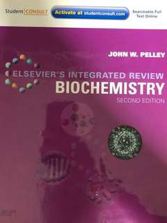 Elsevier's Integrated Review Biochemistry Second Edition Textbook