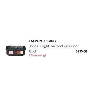 Kat Von D eyeshadow quad