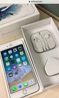 99% new iPhone 6S Plus 16GB White Colour full set with box