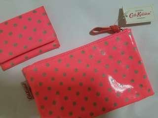 NEW! Cath Kidston Makeup Bag & Card Case