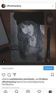 Portrait drawing Art a4