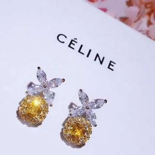 Celine 黃鑽耳釘