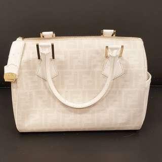 Fendi Zucca Boston Bag