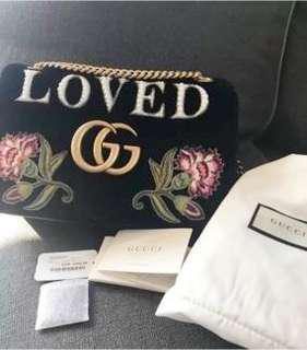 Gucci GG Marmont Loved velvet bag