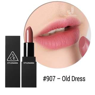 3CE Lipstick in #907 Old Dress