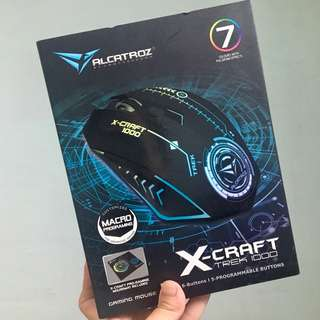 BNIB Alcatroz Gaming Mouse - X-Craft Trek 1000