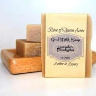 Lavender Eucalyptus  Goat Milk Soap (Made in USA)