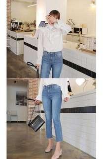 🚚 正韓熱銷刷色顯瘦牛仔褲