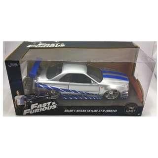 Fast & Furious Brian's Nissan Skyline GTR BNR 34 - 1:24 scale #97158 by Jada Toys
