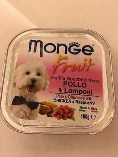 Monge犬用狗食:chincken&raspberry100克