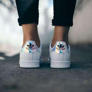 Adidas Stan Smith Holographic Hologram Iridescent Sneakers