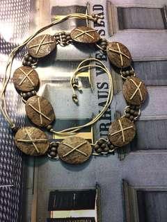 繭裹子峇里島椰子殼度假民族風公平交易手作帶飾