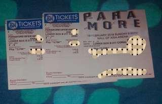 Paramore con Tickets