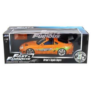 Fast & Furious 1:18 scale Brian's Toyota Supra Orange - #97505 by Jada Toys