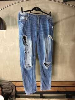 H&M Plus size ripped denim jeans