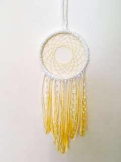 Yellow ombré handmade dreamcatcher
