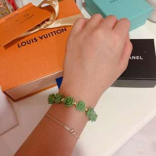 Green Roses Bracelet