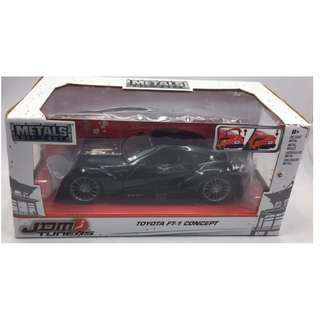 JDM Tuners 1:24 scale Toyota FT1 Concept Black Metal Diecast Car # 98687 by Jada Toys