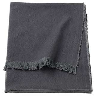 IKEA JOFRID Throw, dark blue-grey, natural