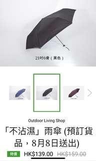 TTK 超輕纖維骨單層防風手開傘 雨遮