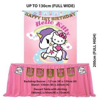 Birthday Party Decoration - Tokidoki Unicorno Hello Kitty