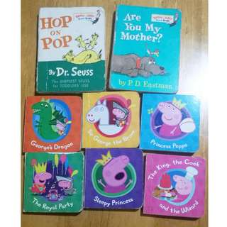 Set of Peppa Pig and Dr Seuss Board Books