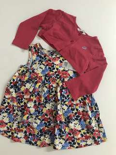 Poney Baby Dresss with Cardigan (6-12mth)