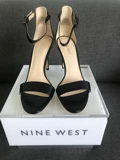 Nine West Mana Leather black heels