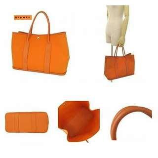 Hermes Garden Party Pm Orange  Item no Tlv002873 Size 37 x 26 x 17cm Price 59,990 pesos