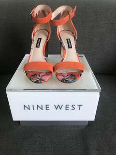 Nine West Nirmala leather orange heels
