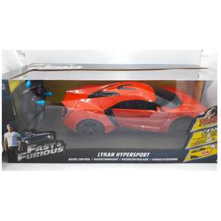 Fast & Furious Lykan Hypersport 2.4Ghz Radio Control (RC) 1.24 scale by JadaToys