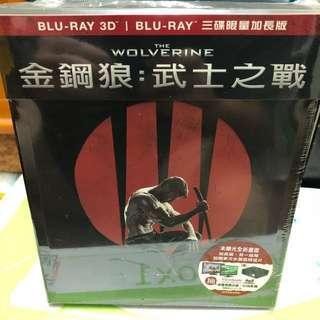 🚚 金剛狼 武士之戰The Wolverine Blue Ray 3D藍光 + 2D 電影三碟版(自取500)