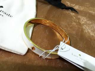 Kate Spade white&gold Bangle