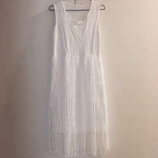 🚚 背心白紗裙#女裝半價拉