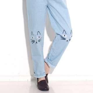 Cat baggy jeans