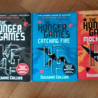 The Hunger games Trilogy, 3 For $15. Otherwise $7.90 each. good Condition. Catching Fire, Mockingjay