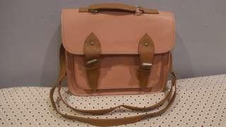 Pastel Pink Messenger Satchel