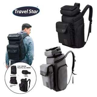 SKN 3 in 1 travel bagpack