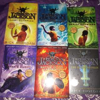 The Percy Jackson Series By Rick Riordan