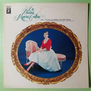 "【舊版""Classical""黑膠唱片】Maria Callas ~ La Divina Callas Sings Puccini Arias Vol. 1 (1976 Japan)"